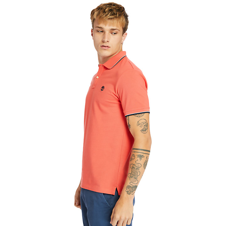 Millers River Tipped-collar Polo Shirt for Men in Red-