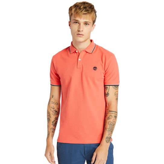 Millers River Tipped-collar Polo Shirt for Men in Red | Timberland