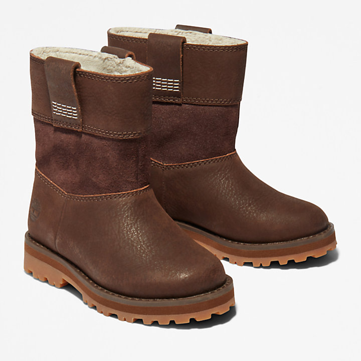 Courma Kid Pull-On Boot for Toddler in Dark Brown-