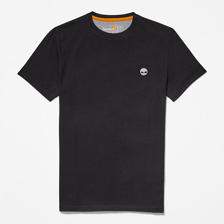 Camiseta con Cuello Redondo Dunstan River para Hombre en color negro-