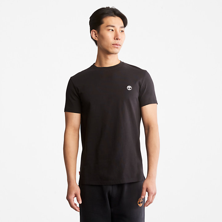 Dunstan River Crew Tee for Men in Black-