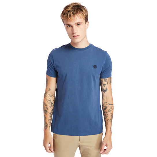 Dunstan River Crew Tee for Men in Navy | Timberland