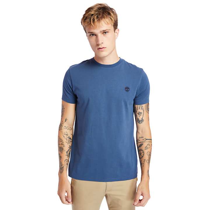 Dunstan River Crew Tee for Men in Navy-