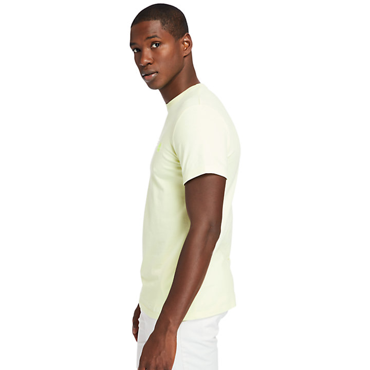 T-shirt Girocollo da Uomo Dunstan River in giallo chiaro-