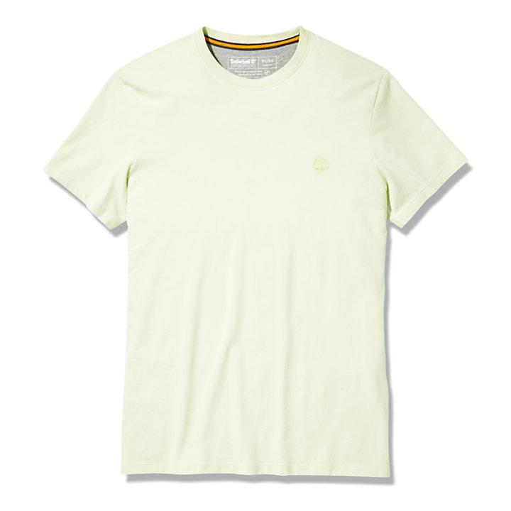 Dunstan River Rundhals-T-Shirt für Herren in Hellgelb-