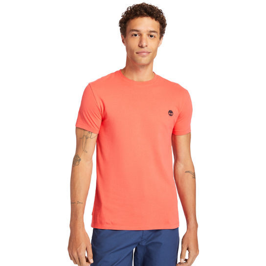 Dunstan River Crew Tee for Men in Coral | Timberland