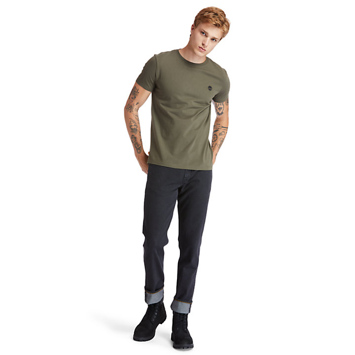 Dunstan River Crew Tee for Men in Dark Green-