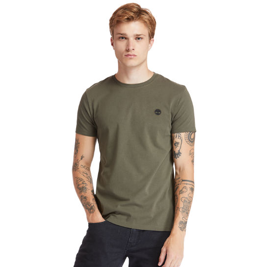 Dunstan River Crew Tee for Men in Dark Green | Timberland