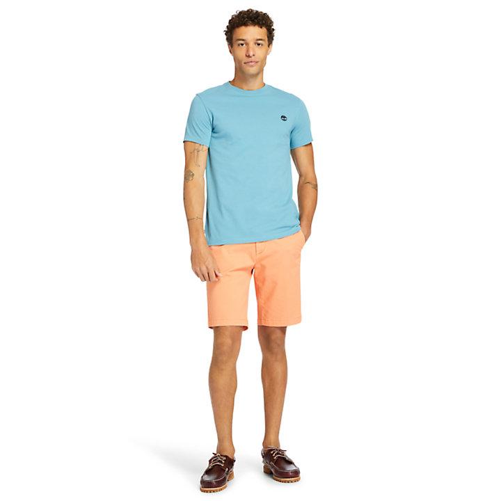 Camiseta con Cuello Redondo Dunstan River para Hombre en azul-