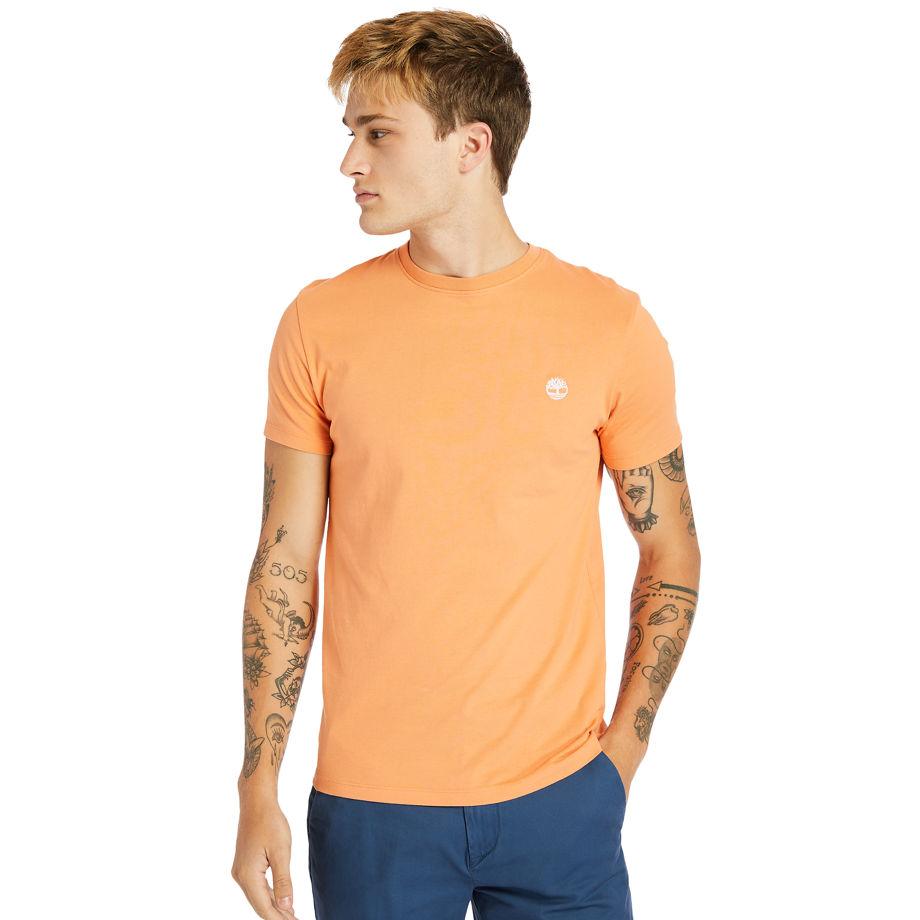 T-shirt À Col Rond Dunstan River En Rose Pêche, Taille M - Timberland - Modalova