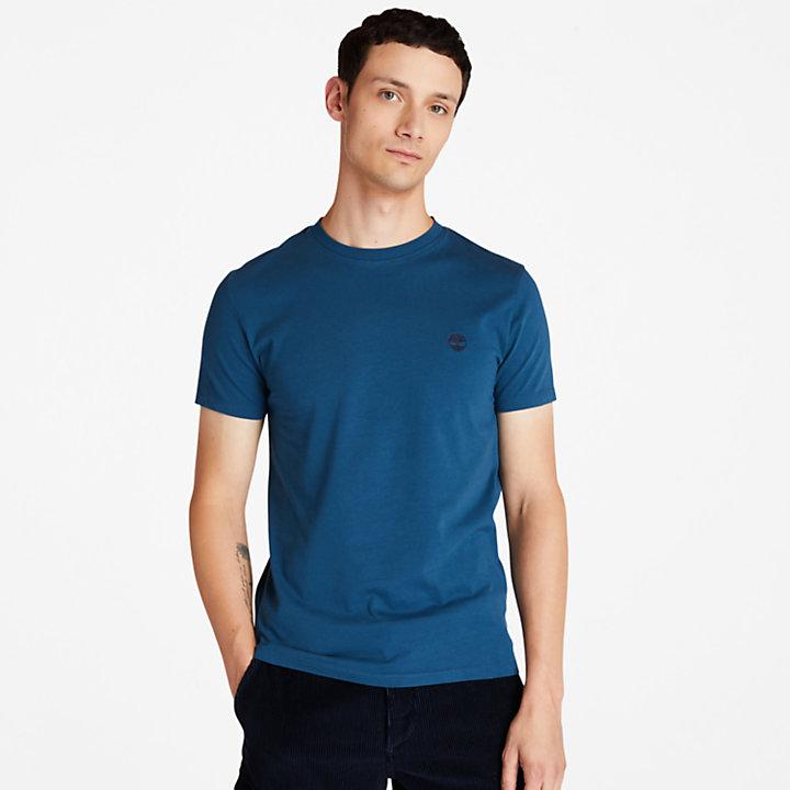 Dunstan River Crew T-Shirt for Men in Blue-