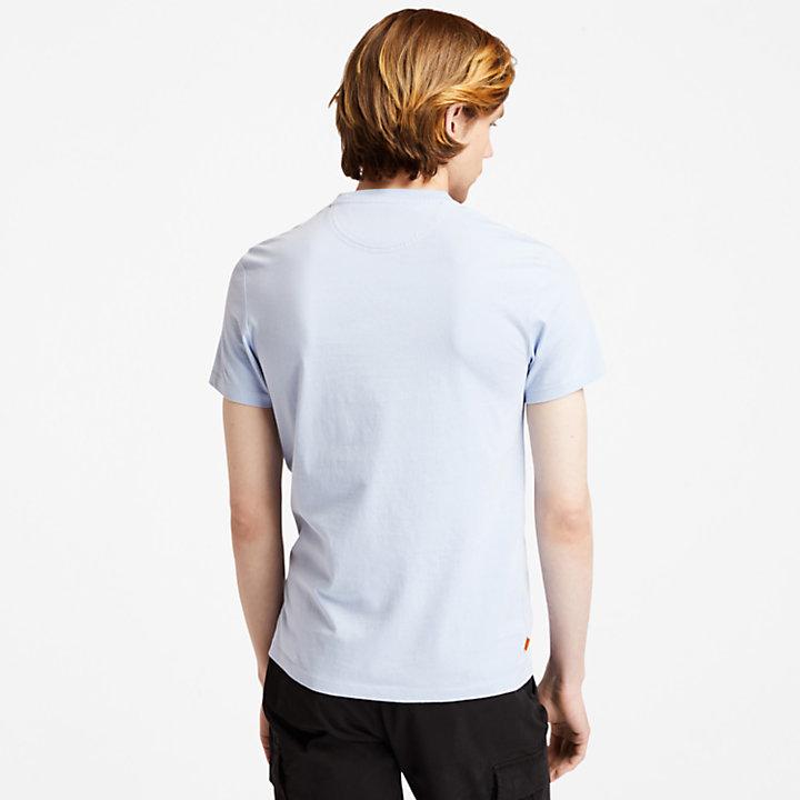 Dunstan River Crew T-Shirt for Men in Light Blue-