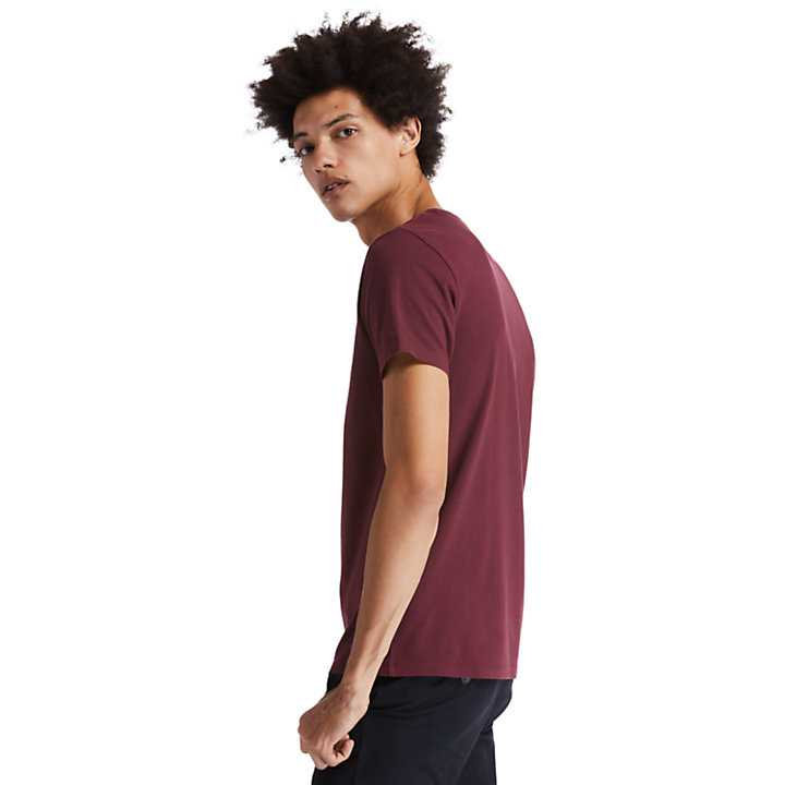 Camiseta con Cuello Redondo Dunstan River para Hombre en burdeos-