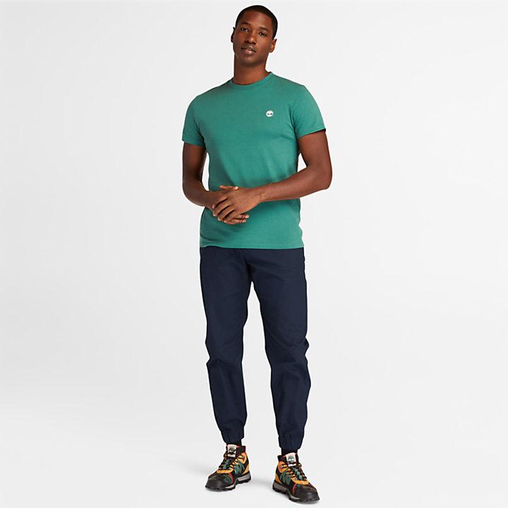 Camiseta con Cuello Redondo Dunstan River para Hombre en verde-
