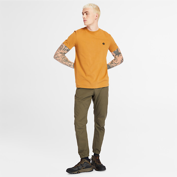 Dunstan River Crew Tee for Men in Yellow-