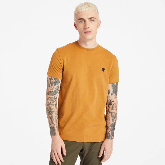 Dunstan River Crew Tee for Men in Yellow | Timberland