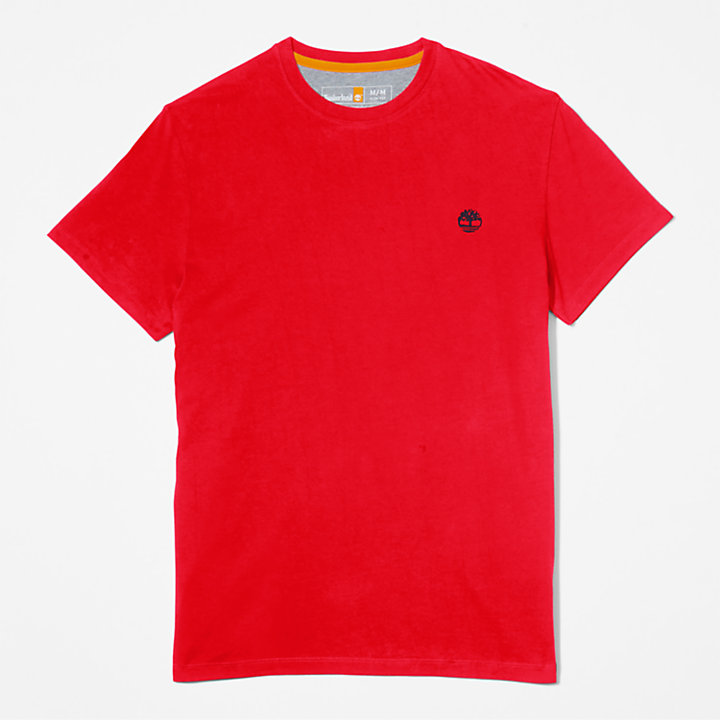 Dunstan River Crew Tee for Men in Red-