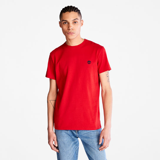 Dunstan River Crew Tee for Men in Red | Timberland