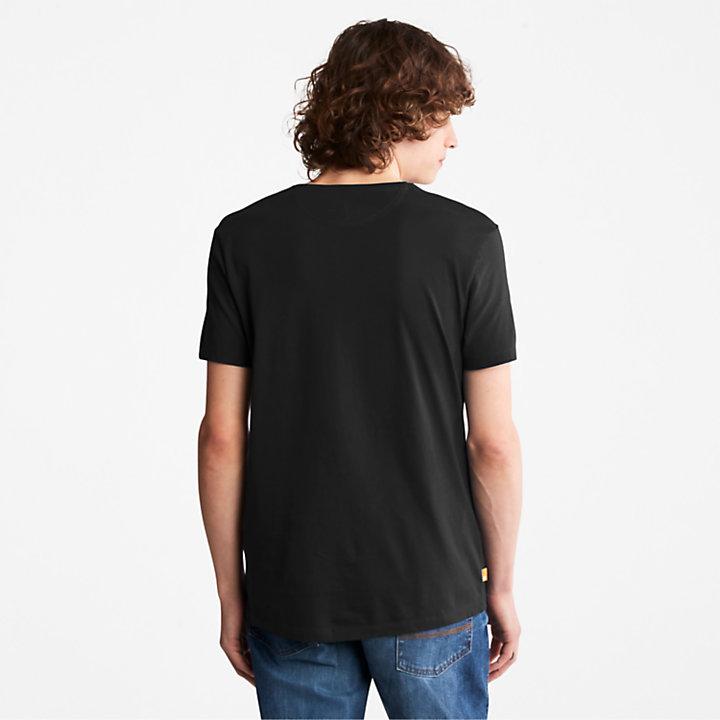 Camiseta Dunstan River para Hombre en color negro-