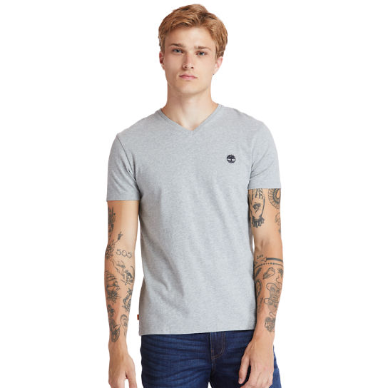 Dunstan River V-Neck T-Shirt for Men in Grey | Timberland