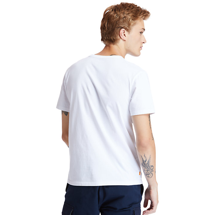 Kennebec River Organic Cotton Crew T-Shirt for Men in White-
