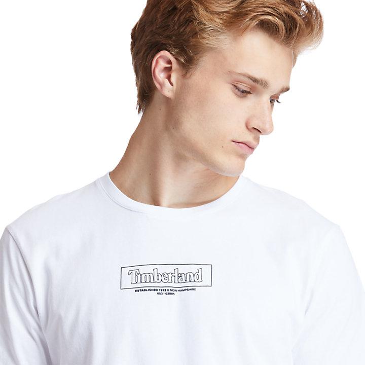 Kennebec River Organic Cotton Crew T-shirt voor Heren in wit-