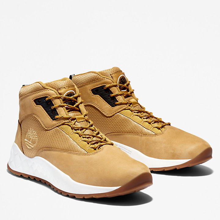 Scarpa da Hiking da Uomo Solar Wave Mid in giallo-