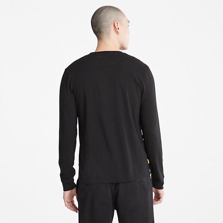 T-shirt Dunstan River à manches longues pour homme en noir-