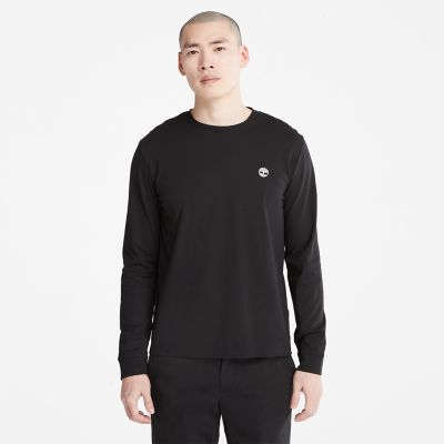 Dunstan+River+LS+T-Shirt+for+Men+in+Black