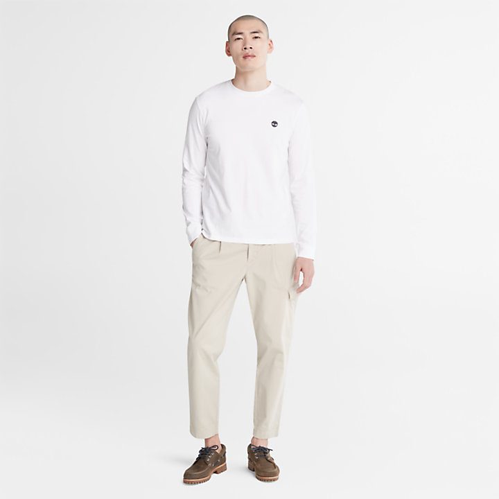 T-shirt M/L da Uomo Dunstan River in bianco-