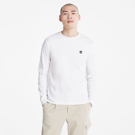 Dunstan River LS T-Shirt for Men in White | Timberland