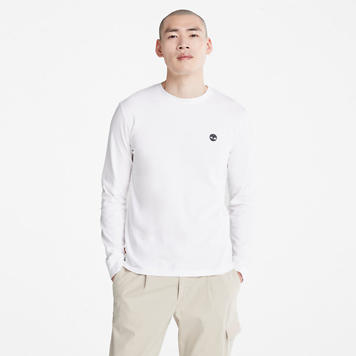 Dunstan River LS T-Shirt for Men in White-