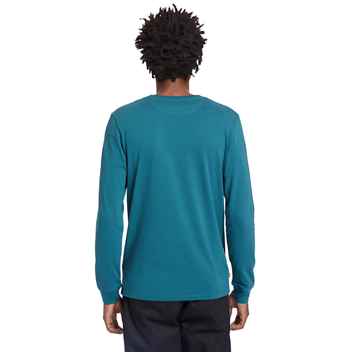 Dunstan River LS T-Shirt for Men in Blue-