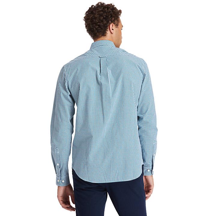 Suncook River Gingham Shirt for Men in Teal-