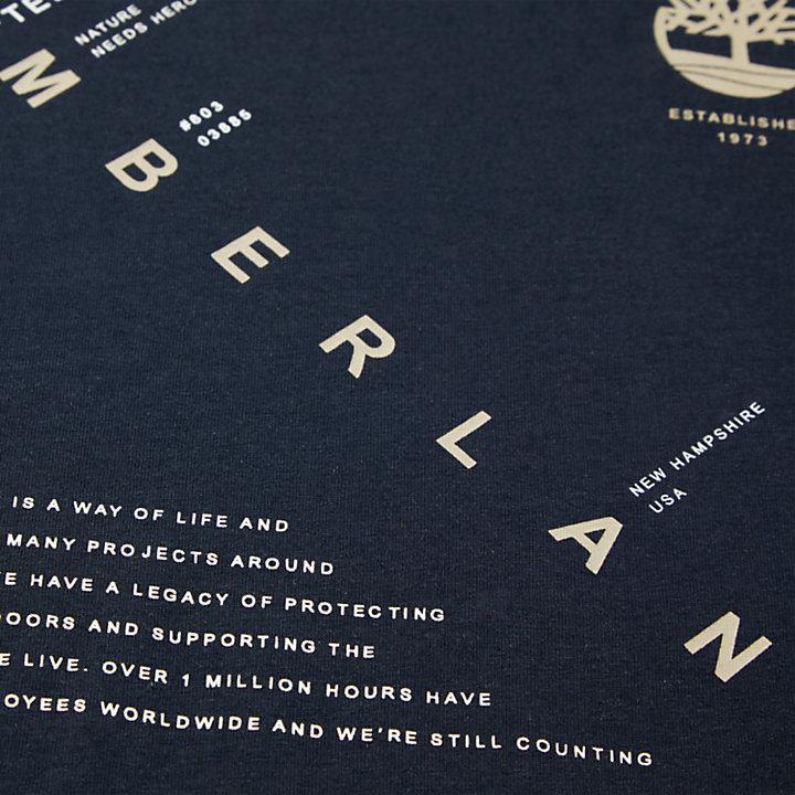 Kennebec  River Storytelling T-Shirt for Men in Navy-