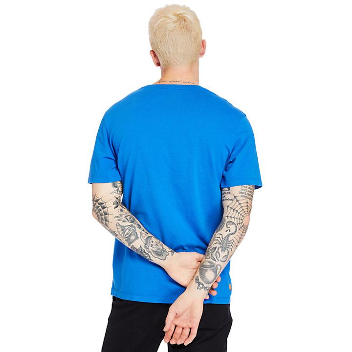 Kennebec  River Storytelling T-Shirt for Men in Blue-