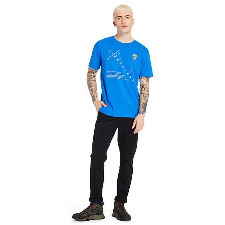 T-shirt da Uomo Kennebec River Storytelling in blu-