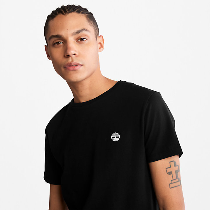 Cotton Logo T-Shirt for Men in Black-