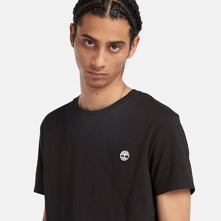 T-shirt en coton avec logo pour homme en noir-