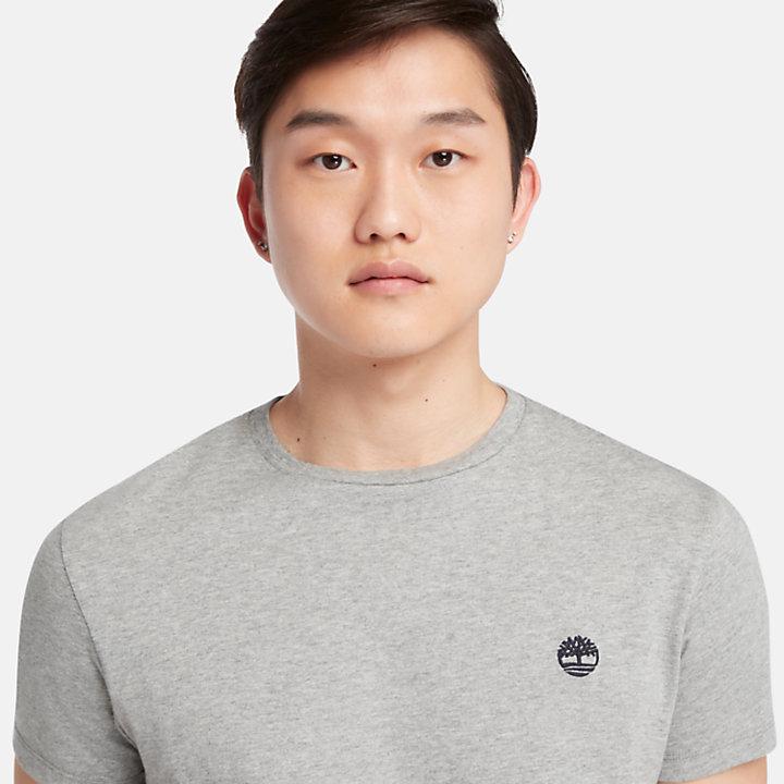T-shirt en coton avec logo pour homme en gris-