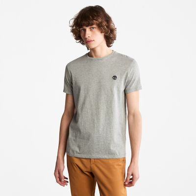 Cotton+Logo+T-Shirt+for+Men+in+Grey