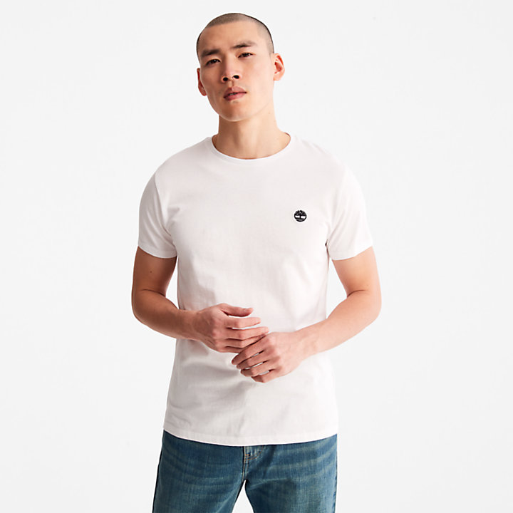 Cotton Logo T-Shirt for Men in White-