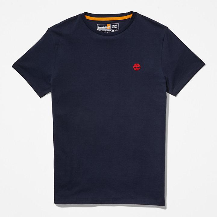 Cotton Logo T-Shirt for Men in Navy-