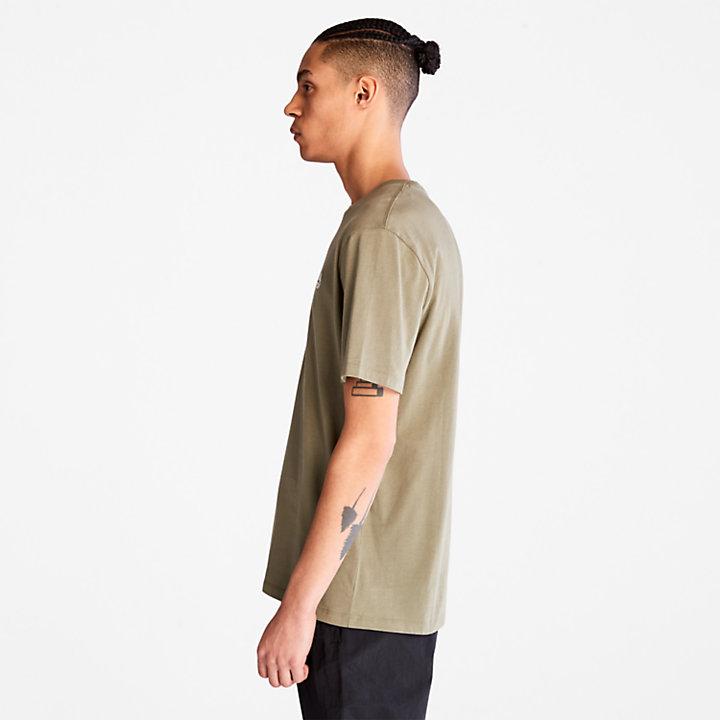 Cotton Logo T-shirt voor heren in groen-