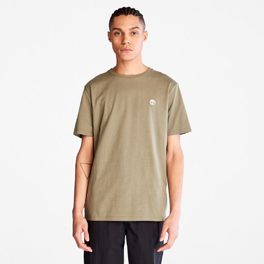 Cotton Logo T-Shirt for Men in Green | Timberland