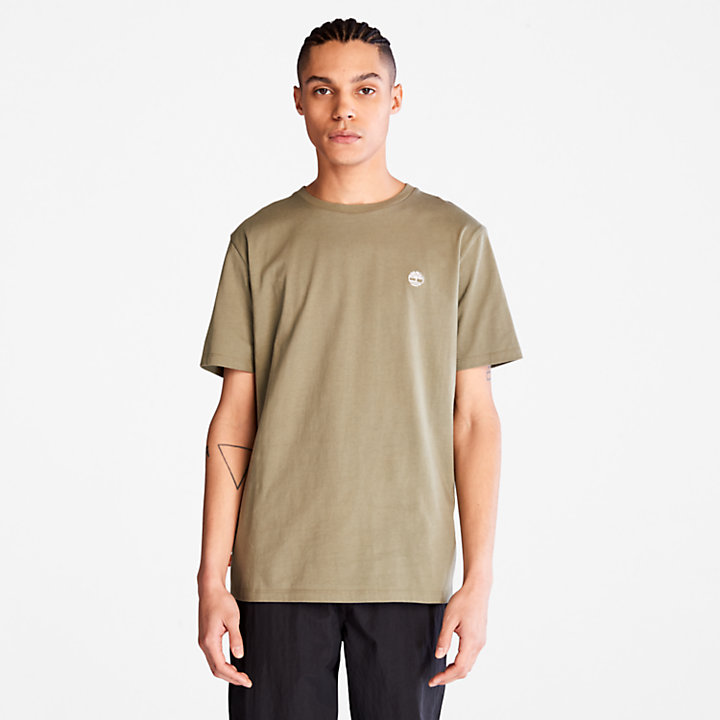 Cotton Logo T-Shirt for Men in Green-
