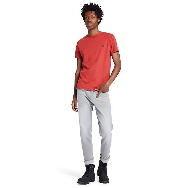 T-shirt da Uomo in Cotone con Logo in rosso-