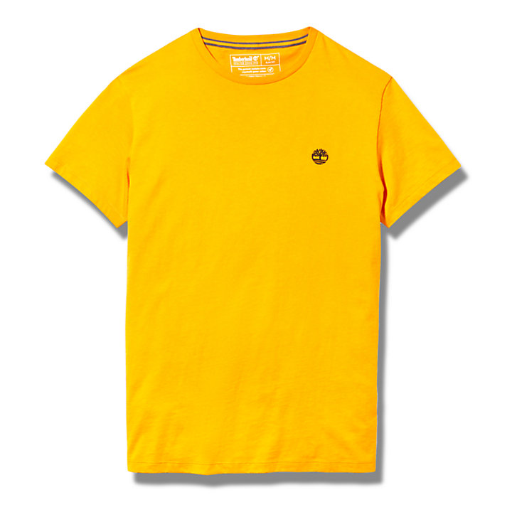 Men's Short-Sleeve Slim Logo Tee in Orange-