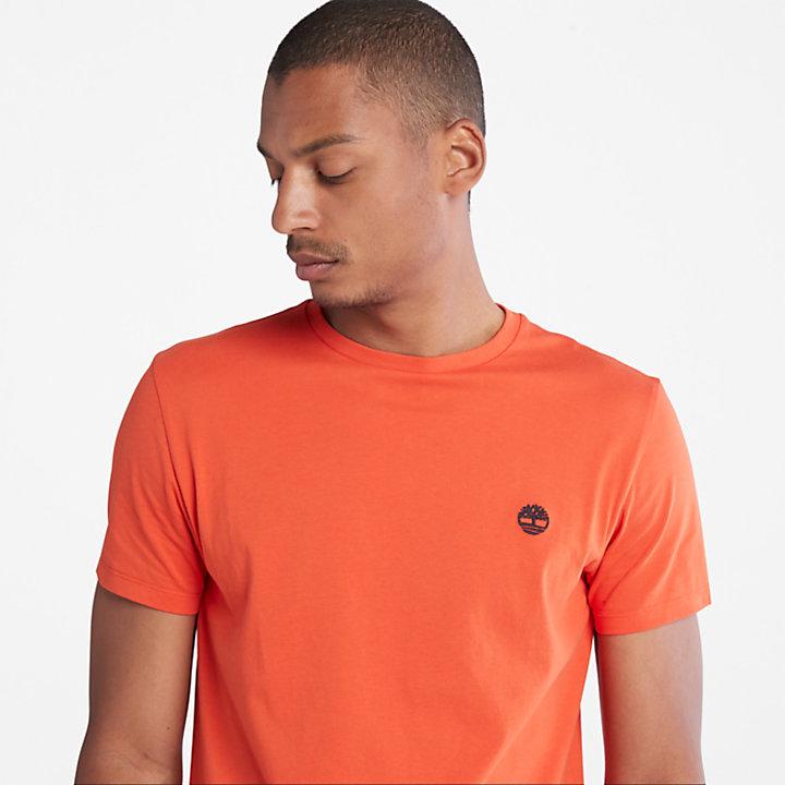 T-shirt à logo en coton biologique pour homme en orange-