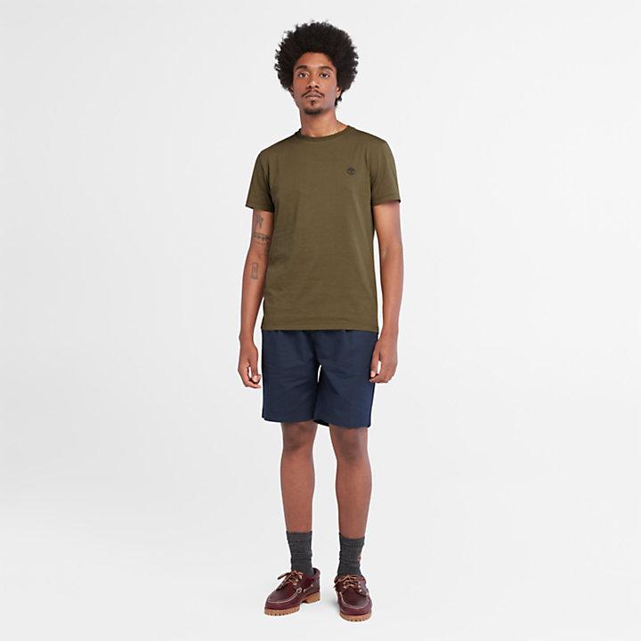 Camiseta con Logotipo en Algodón para Hombre en verde-